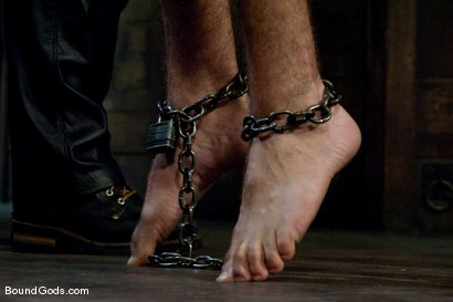 Tristan Jaxx gets tied up and flogged.
