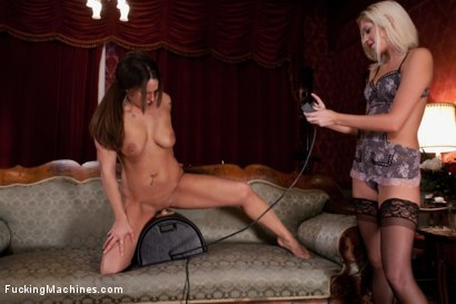 Photo number 7 from Upstairs Sybian, Downstairs Snake <br> double updates today shot for Fucking Machines on Kink.com. Featuring Tasha Turner and Krystal Main in hardcore BDSM & Fetish porn.