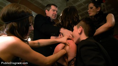 Photo number 9 from Princess Donna's Birthday Bash: Part 1 shot for Public Disgrace on Kink.com. Featuring James Deen and Seda in hardcore BDSM & Fetish porn.