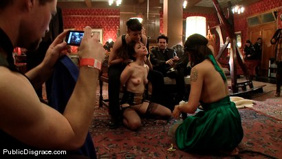Photo number 9 from Princess Donna's Birthday Bash: Part 2 shot for Public Disgrace on Kink.com. Featuring James Deen and Seda in hardcore BDSM & Fetish porn.