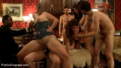 Photo number 13 from Princess Donna's Birthday Bash: Part 2 shot for Public Disgrace on Kink.com. Featuring James Deen and Seda in hardcore BDSM & Fetish porn.