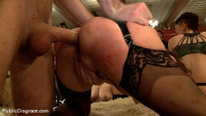 Photo number 5 from Princess Donna's Birthday Bash: Part 2 shot for Public Disgrace on Kink.com. Featuring James Deen and Seda in hardcore BDSM & Fetish porn.