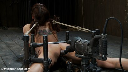 Photo number 11 from Machine fucked and Double Penetrated to multiple brutal orgasms! shot for Device Bondage on Kink.com. Featuring Gia DiMarco in hardcore BDSM & Fetish porn.