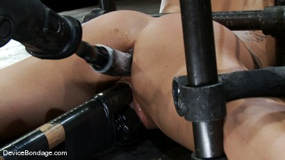 Photo number 8 from Machine fucked and Double Penetrated to multiple brutal orgasms! shot for Device Bondage on Kink.com. Featuring Gia DiMarco in hardcore BDSM & Fetish porn.