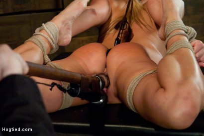 Photo number 14 from Youngest Porn Legend in the Business. shot for Hogtied on Kink.com. Featuring Aurora Snow in hardcore BDSM & Fetish porn.