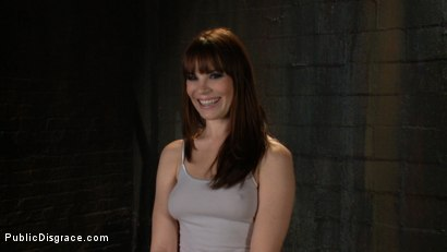 Photo number 1 from The Humiliation of Dana DeArmond shot for Public Disgrace on Kink.com. Featuring James Deen and Dana DeArmond in hardcore BDSM & Fetish porn.