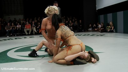 Photo number 5 from ROUND ONE<br>The Dragons(0-0) vs The Pirates (0-0) shot for Ultimate Surrender on Kink.com. Featuring Dia Zerva, Jessie Cox, DragonLily and Holly Heart in hardcore BDSM & Fetish porn.