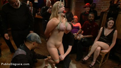 Photo number 5 from Two pairs of Gorgeous all Natural 34F's Tied and Fucked shot for Public Disgrace on Kink.com. Featuring James Deen, Sierra Skye and Cassandra Calogera in hardcore BDSM & Fetish porn.