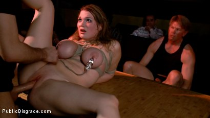 Photo number 4 from The Porn Theater shot for Public Disgrace on Kink.com. Featuring Cassandra Calogera and James Deen in hardcore BDSM & Fetish porn.