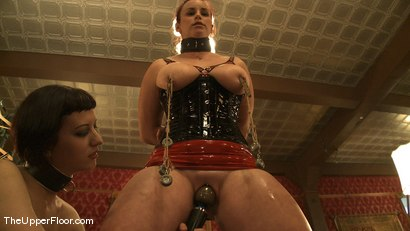 Photo number 10 from Service Session Wednesday: Latex Corset Training 101 shot for The Upper Floor on Kink.com. Featuring Cherry Torn and Bella Rossi in hardcore BDSM & Fetish porn.