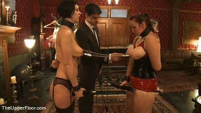 Photo number 11 from Service Session Wednesday: Latex Corset Training 101 shot for The Upper Floor on Kink.com. Featuring Cherry Torn and Bella Rossi in hardcore BDSM & Fetish porn.