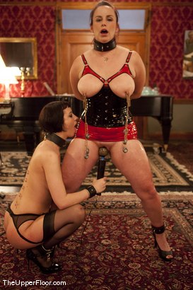 Photo number 15 from Service Session Wednesday: Latex Corset Training 101 shot for The Upper Floor on Kink.com. Featuring Cherry Torn and Bella Rossi in hardcore BDSM & Fetish porn.
