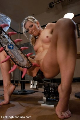 Photo number 8 from Ashley Fires <br> Part 2 of 5 squatting, sweating,squirting  shot for Fucking Machines on Kink.com. Featuring Ashley Fires in hardcore BDSM & Fetish porn.