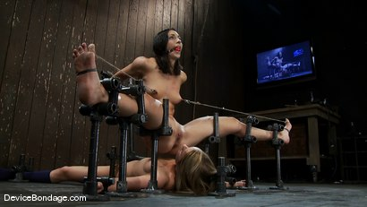 Photo number 12 from Wenona, Jessie Cox, and Isis Love<br> Part 1 of 4 of the March Live Show. shot for Device Bondage on Kink.com. Featuring Wenona, Isis Love and Jessie Cox in hardcore BDSM & Fetish porn.