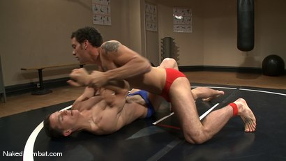 Photo number 1 from Martin Lorenzo vs DJ <br> The Rematch shot for Naked Kombat on Kink.com. Featuring Martin Lorenzo and DJ in hardcore BDSM & Fetish porn.
