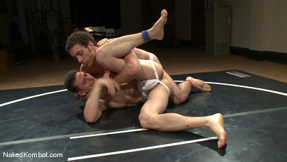 Photo number 4 from Martin Lorenzo vs DJ <br> The Rematch shot for Naked Kombat on Kink.com. Featuring Martin Lorenzo and DJ in hardcore BDSM & Fetish porn.