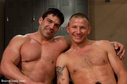 Photo number 15 from The Creepy Janitor and The Bodybuilder shot for Bound Gods on Kink.com. Featuring Brenn Wyson and Vince Ferelli in hardcore BDSM & Fetish porn.