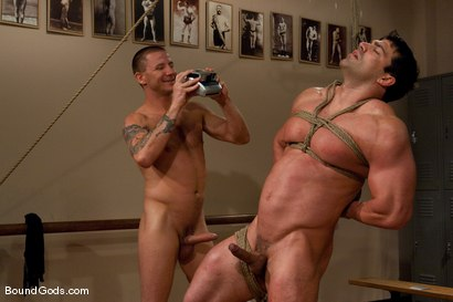 Photo number 8 from The Creepy Janitor and The Bodybuilder shot for Bound Gods on Kink.com. Featuring Brenn Wyson and Vince Ferelli in hardcore BDSM & Fetish porn.