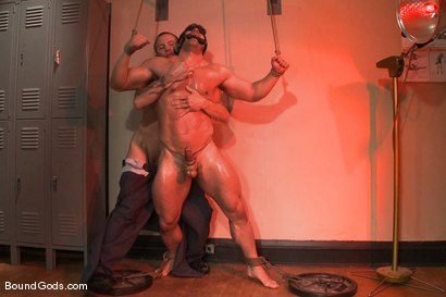 Photo number 7 from The Creepy Janitor and The Bodybuilder shot for Bound Gods on Kink.com. Featuring Brenn Wyson and Vince Ferelli in hardcore BDSM & Fetish porn.