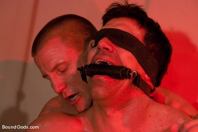 Photo number 4 from The Creepy Janitor and The Bodybuilder shot for Bound Gods on Kink.com. Featuring Brenn Wyson and Vince Ferelli in hardcore BDSM & Fetish porn.