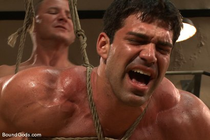 Photo number 9 from The Creepy Janitor and The Bodybuilder shot for Bound Gods on Kink.com. Featuring Brenn Wyson and Vince Ferelli in hardcore BDSM & Fetish porn.