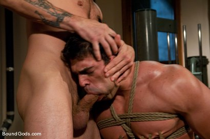 Photo number 3 from The Creepy Janitor and The Bodybuilder shot for Bound Gods on Kink.com. Featuring Brenn Wyson and Vince Ferelli in hardcore BDSM & Fetish porn.