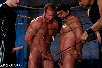 Photo number 12 from The Bodybuilders and The Onyx shot for Bound Gods on Kink.com. Featuring Van Darkholme, Vince Ferelli, Derek Pain and Christian Wilde in hardcore BDSM & Fetish porn.