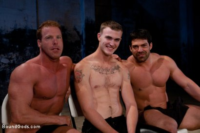 Photo number 15 from The Bodybuilders and The Onyx shot for Bound Gods on Kink.com. Featuring Van Darkholme, Vince Ferelli, Derek Pain and Christian Wilde in hardcore BDSM & Fetish porn.