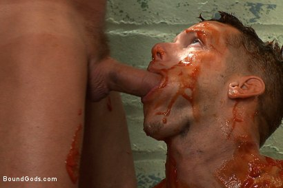 Photo number 9 from The Bloody Ransom shot for Bound Gods on Kink.com. Featuring Shane Frost and Tyler Saint in hardcore BDSM & Fetish porn.