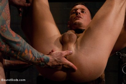 Photo number 12 from Adam gets Slicked! shot for Bound Gods on Kink.com. Featuring Nick Moretti and Adam Knox in hardcore BDSM & Fetish porn.