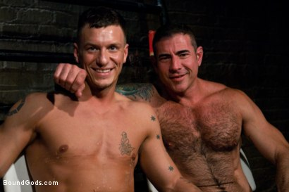 Photo number 15 from Adam gets Slicked! shot for Bound Gods on Kink.com. Featuring Nick Moretti and Adam Knox in hardcore BDSM & Fetish porn.