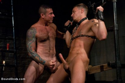 Photo number 10 from Adam gets Slicked! shot for Bound Gods on Kink.com. Featuring Nick Moretti and Adam Knox in hardcore BDSM & Fetish porn.