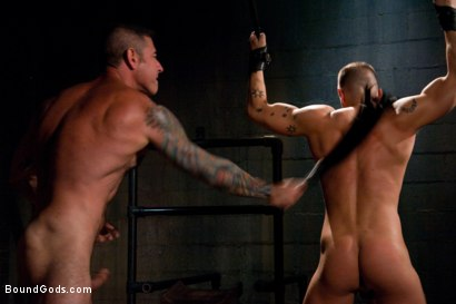 Photo number 9 from Adam gets Slicked! shot for Bound Gods on Kink.com. Featuring Nick Moretti and Adam Knox in hardcore BDSM & Fetish porn.