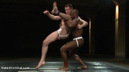Photo number 2 from Derek Reynolds vs. Troy Daniels <br> The Oil Match shot for Naked Kombat on Kink.com. Featuring Troy Daniels and Derek Reynolds in hardcore BDSM & Fetish porn.