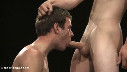 Photo number 12 from CJ vs Matthew Singer shot for Naked Kombat on Kink.com. Featuring Matthew Singer and CJ in hardcore BDSM & Fetish porn.