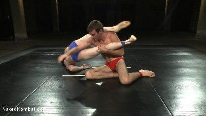 Photo number 2 from CJ vs Matthew Singer shot for Naked Kombat on Kink.com. Featuring Matthew Singer and CJ in hardcore BDSM & Fetish porn.