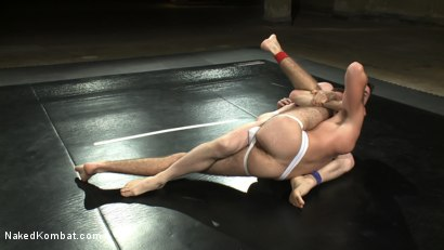 Photo number 3 from CJ vs Matthew Singer shot for Naked Kombat on Kink.com. Featuring Matthew Singer and CJ in hardcore BDSM & Fetish porn.