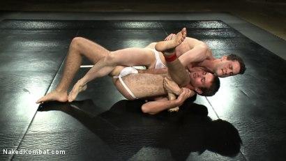 Photo number 4 from CJ vs Matthew Singer shot for Naked Kombat on Kink.com. Featuring Matthew Singer and CJ in hardcore BDSM & Fetish porn.