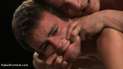 Photo number 8 from CJ vs Matthew Singer shot for Naked Kombat on Kink.com. Featuring Matthew Singer and CJ in hardcore BDSM & Fetish porn.