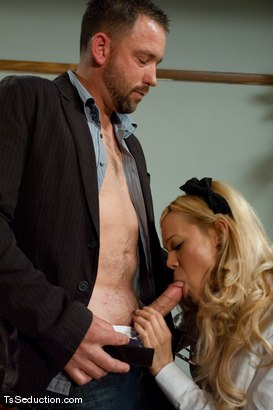 Photo number 2 from English 101 <br> A is for anal, B is for my balls hitting your ass shot for TS Seduction on Kink.com. Featuring Paris and Rom Fox in hardcore BDSM & Fetish porn.