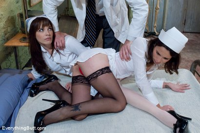 Photo number 2 from Slutty Anal Nurses shot for Everything Butt on Kink.com. Featuring Amber Rayne, Dana DeArmond and Steve Holmes in hardcore BDSM & Fetish porn.