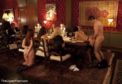 Photo number 1 from Director's Dinner: A Toast to Feeding the Castle  shot for The Upper Floor on Kink.com. Featuring Cherry Torn and Bella Rossi in hardcore BDSM & Fetish porn.