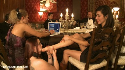 Photo number 11 from Director's Dinner: A Toast to Feeding the Castle  shot for The Upper Floor on Kink.com. Featuring Cherry Torn and Bella Rossi in hardcore BDSM & Fetish porn.