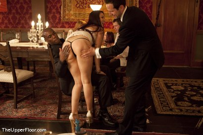 Photo number 5 from Director's Dinner: A Toast to Feeding the Castle  shot for The Upper Floor on Kink.com. Featuring Cherry Torn and Bella Rossi in hardcore BDSM & Fetish porn.