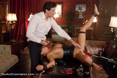 Photo number 12 from Purchased For Pleasure shot for Sex And Submission on Kink.com. Featuring Steve Holmes and Mia Lelani in hardcore BDSM & Fetish porn.