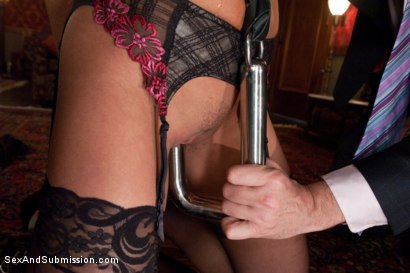 Photo number 4 from Purchased For Pleasure shot for Sex And Submission on Kink.com. Featuring Steve Holmes and Mia Lelani in hardcore BDSM & Fetish porn.