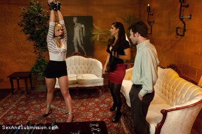 Photo number 3 from Spouse Training 2 shot for Sex And Submission on Kink.com. Featuring James Deen, Isis Love and Tara Lynn Foxx in hardcore BDSM & Fetish porn.