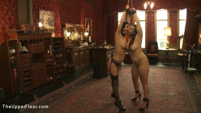 Photo number 9 from Entertaining a Master shot for The Upper Floor on Kink.com. Featuring Cherry Torn, Bella Rossi and Maestro Stefanos in hardcore BDSM & Fetish porn.