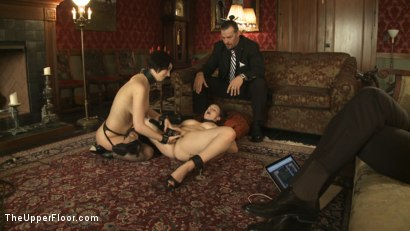 Photo number 12 from Entertaining a Master shot for The Upper Floor on Kink.com. Featuring Cherry Torn, Bella Rossi and Maestro Stefanos in hardcore BDSM & Fetish porn.