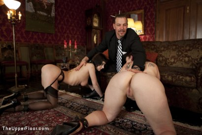 Photo number 2 from Entertaining a Master shot for The Upper Floor on Kink.com. Featuring Cherry Torn, Bella Rossi and Maestro Stefanos in hardcore BDSM & Fetish porn.
